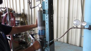 Mission Rubber Unrestrained Hydrostatic Pressure Test: measuring a rubber coupling's resistance to leakage and axial movement