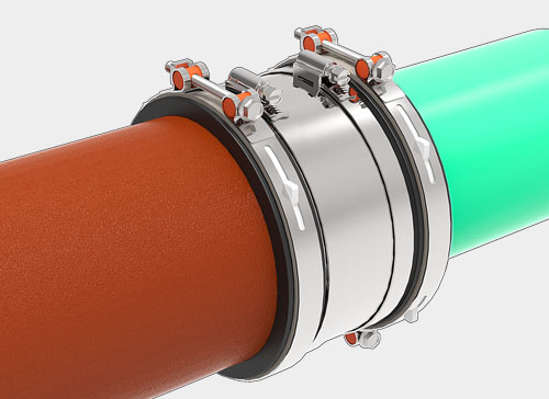 Mission Rubber FLEX-SEAL® ARC Shielded Adjustable Repair Couplings