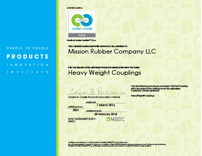 Mission Rubber C2C Certificate for HEAVYWEIGHT Couplings