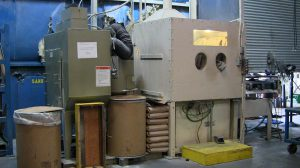 Mission Rubber Abrasive Blast Cabinet: Molds are thoroughly cleaned after each use by abrasive blast with glass bead, preventing product scrap