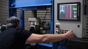 Compression & Deflection Testing: measuring the spring force (PSI) of rubber/elastomer at Mission Rubber