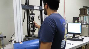 Mission Rubber Tensometer Test: measuring the physical properties of materials: tensile strength, elongation, modulus (e.g. the degree to which they stretch under stress) and tear resistance.